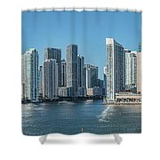 Miami Skyline, Miami-dade County Shower Curtain