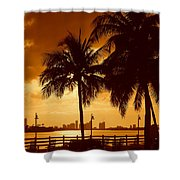 Miami South Beach Romance II Shower Curtain
