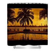 Miami South Beach Romance Shower Curtain