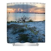 Miami Sunset Shower Curtain