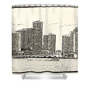 Miami - Venetian Causeway Shower Curtain