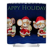 Mice Holiday Shower Curtain
