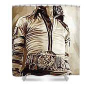Michael Jackson Artwork 2 Shower Curtain by Sheraz A