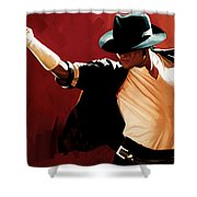 Michael Jackson Artwork 4 Shower Curtain by Sheraz A