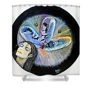 Michael Jackson  Shower Curtain by Augusta Stylianou