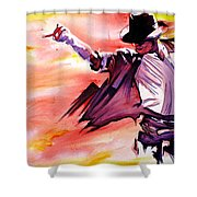Michael Jackson-billie Jean Shower Curtain