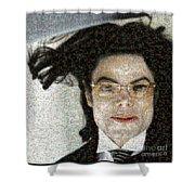 Michael Jackson - Fly Away Hair Mosaic Shower Curtain