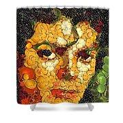 Michael Jackson In The Way Of Arcimboldo Shower Curtain