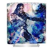 Michael Jackson Original Painting  Shower Curtain