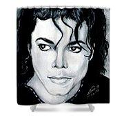 Michael Jackson Portrait Shower Curtain