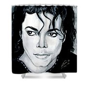 Michael Jackson Portrait Shower Curtain