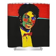 Michael Jackson Shower Curtain by Stormm Bradshaw