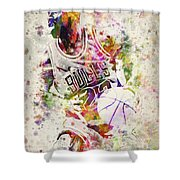 Michael Jordan Shower Curtain by Aged Pixel