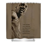 Michael Jordan - Practice Shower Curtain by Richard Tito