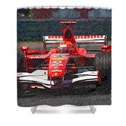 Michael Schumacher Canadian Grand Prix I Shower Curtain