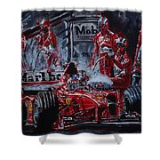 Michael Schumacher Out Of The Darkness Shower Curtain