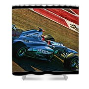 Michael Schumacher Silver Arrows Shower Curtain