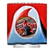 Michael Schumacher Though The Logo Shower Curtain