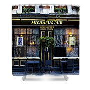Michaels''s Pub Shower Curtain by David Pyatt