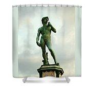 Michelangelo's David 2 Shower Curtain