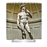 Michelangelos David  Shower Curtain