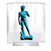 Michelangelos David - Stencil Style Shower Curtain by Pixel Chimp
