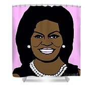 Michelle Obama Shower Curtain by Jost Houk