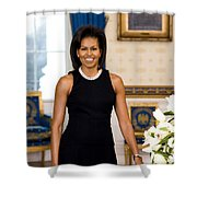 Michelle Obama Shower Curtain