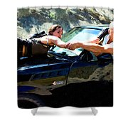 Michelle Rodriguez And Vin Diesel @ Fast To Furious Shower Curtain