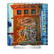 Michigan Avenue Bridge Shower Curtain
