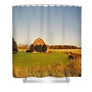 Michigan Barn And Landscape Shower Curtain