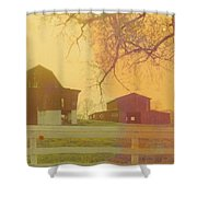 Michigan Barns Shower Curtain