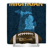 Michigan Football Poster Shower Curtain