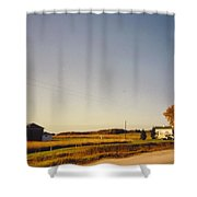 Michigan Landscapeand Barns Shower Curtain