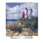 Michigan Shore Memories  Shower Curtain