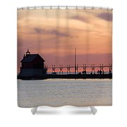 Michigan Sunset Shower Curtain