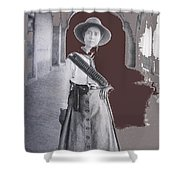 Michoacan Lady Mexican Fighter 1921-2014.  Shower Curtain