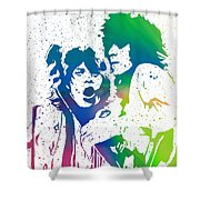 Mick Jagger And Keith Richards Shower Curtain
