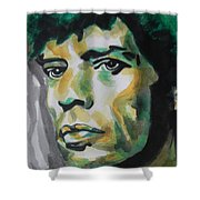 Mick Jagger Shower Curtain by Chrisann Ellis