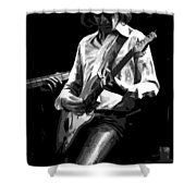 Mick 1977 Art Bw Shower Curtain
