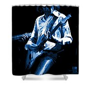 Mick Plays The Blues In Spokane 1977 Shower Curtain