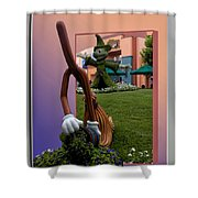Mickey And Broom Floral Walt Disney World Hollywood Studios Shower Curtain