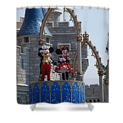 Mickey And Minnie In Living Color Shower Curtain