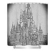 Mickey And Walt At The Park Shower Curtain