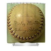Mickey Mantle Baseball Autograph Shower Curtain