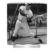 Mickey Mantle Poster Shower Curtain