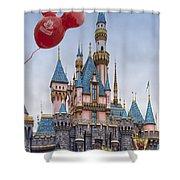 Mickey Mouse Balloon At Disneyland Shower Curtain
