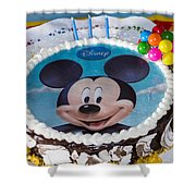 Mickey Mouse Cake Shower Curtain