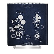 Mickey Mouse Patent Drawing From 1930 Shower Curtain by Aged Pixel