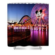 Mickey's Water Wheel Shower Curtain